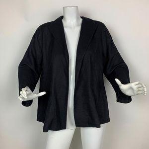 Eillen Fisher blazer open Jacket Black women Sz M